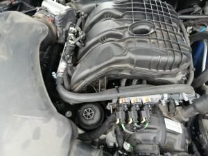 Wtryskiwacze gazowe BRC MY-09 koloru pomarańczowego, ponieważ do tej mocy silnika są wystarczające.